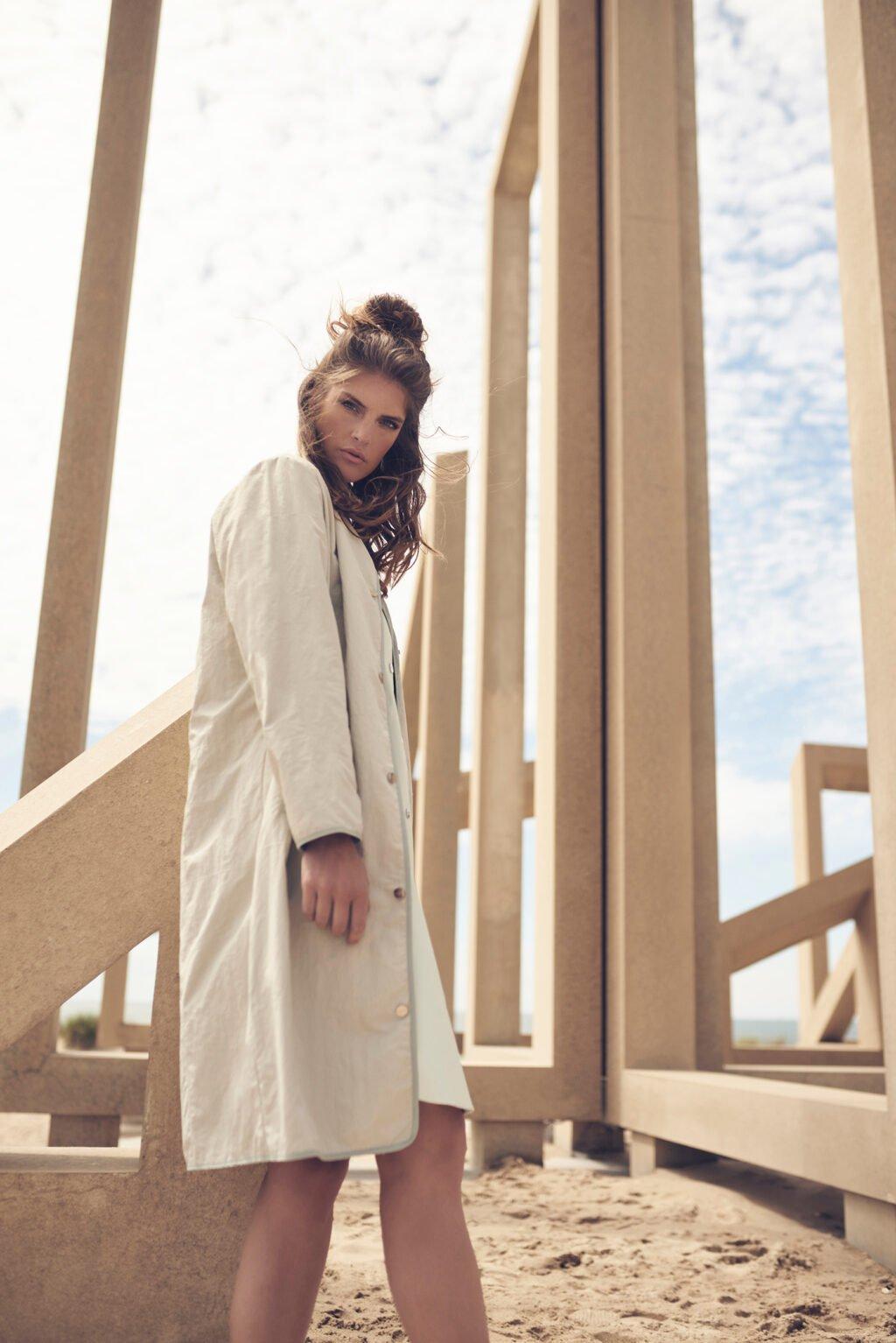 Fermin straight buttoned coat
