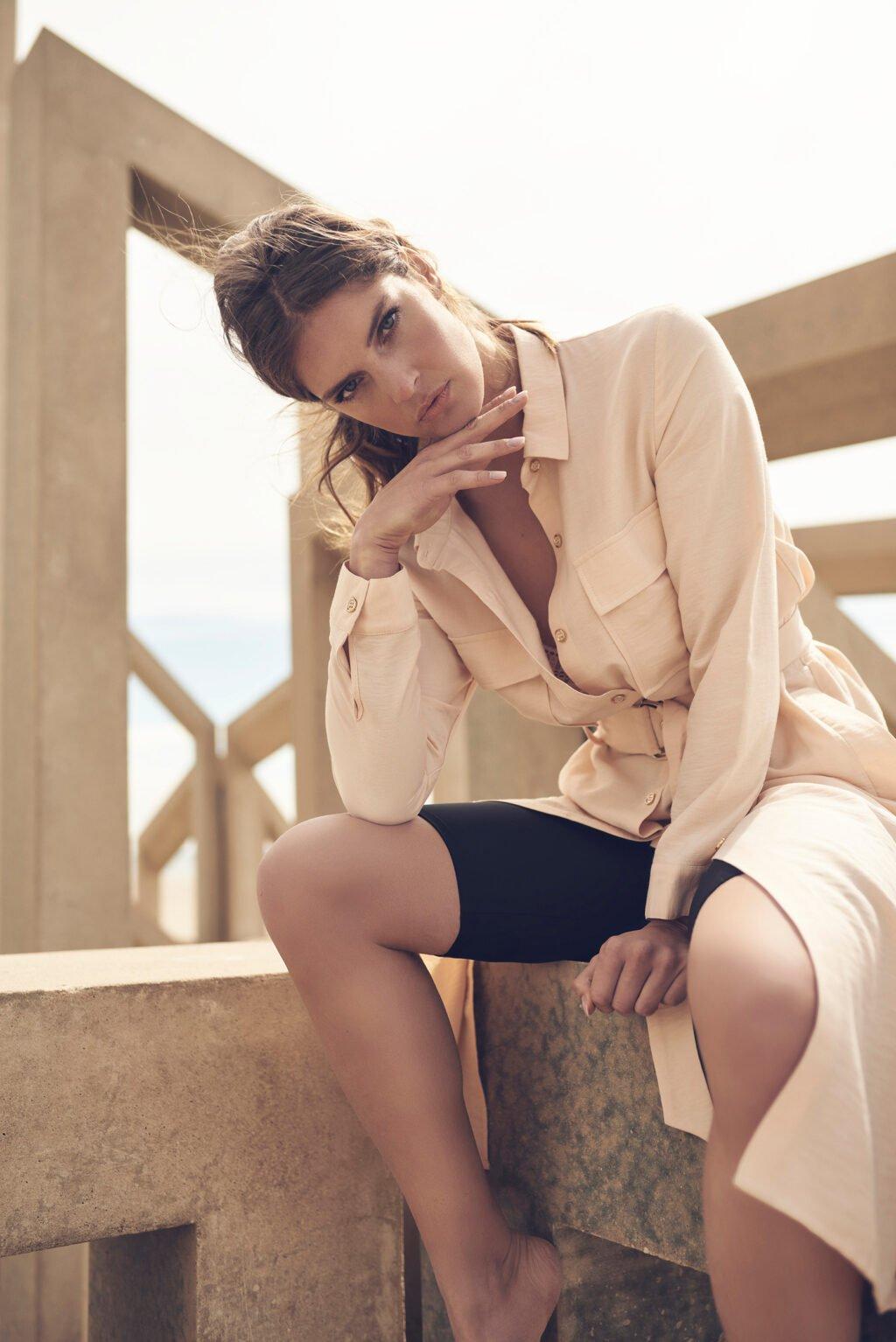 Model is wearing Rino and Pelle knitwear