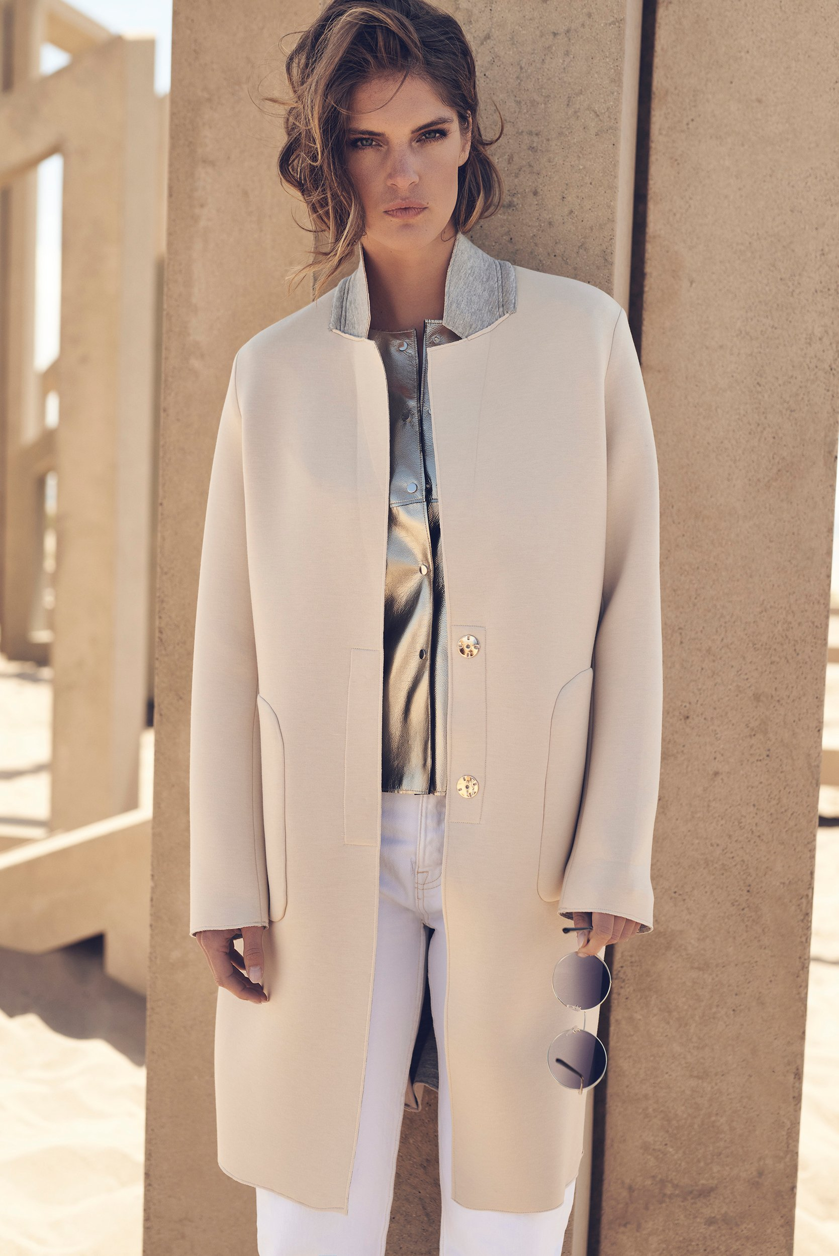 Nidra longlined colbert coat